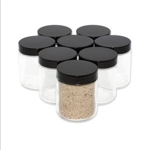8oz Glass Jars with Lids Straight Sided Jar 8 Pack